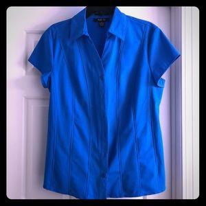 Blue Short-Sleeve Button Down Shirt